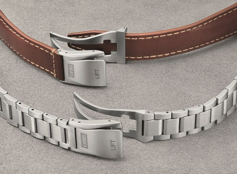 Oris開發的「Lift」折疊帶扣。業者/提供