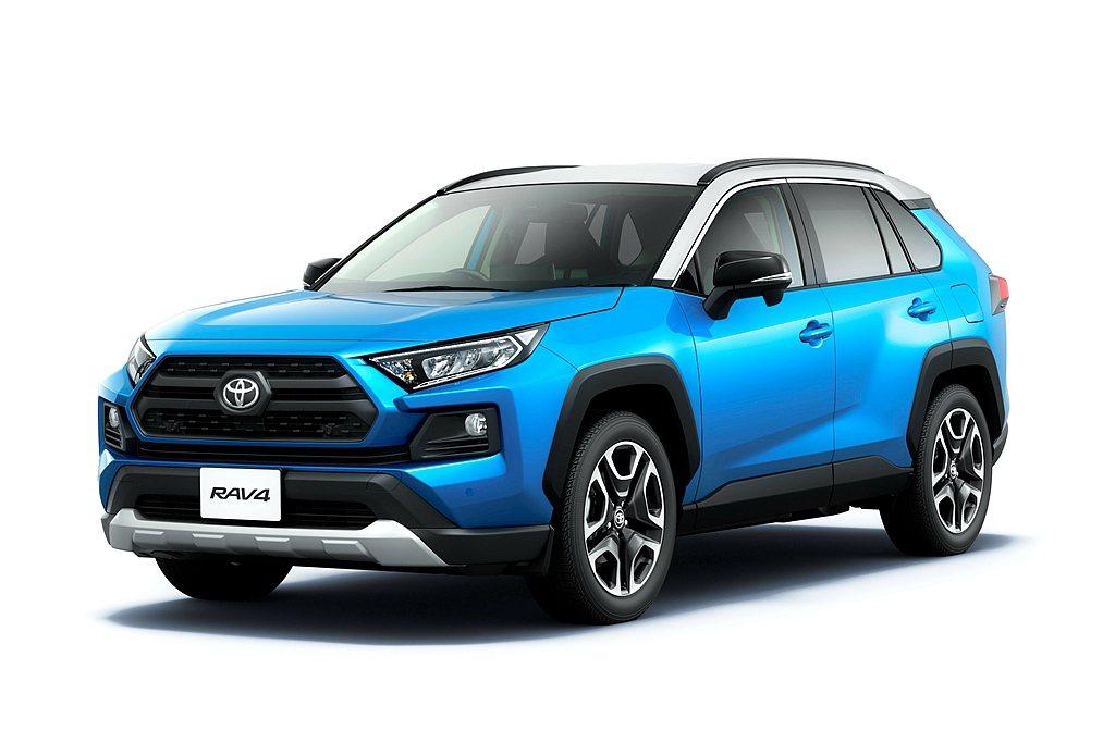 日本Toyota率先推出新年式RAV4,針對便捷與安全科技配備升級。 圖/Toy...