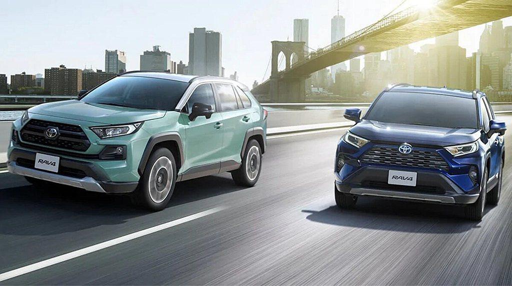 日規新年式Toyota RAV4僅針對影音系統與安全配備進行升級,銷售陣容依然維...