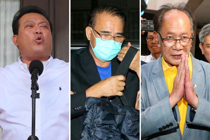 蘇震清(左起)、廖國棟、陳超明。聯合報系資料照
