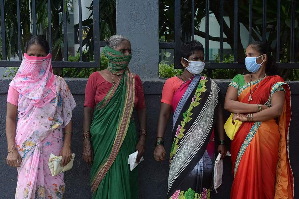 印度新冠肺炎確診病例突破200萬。法新社