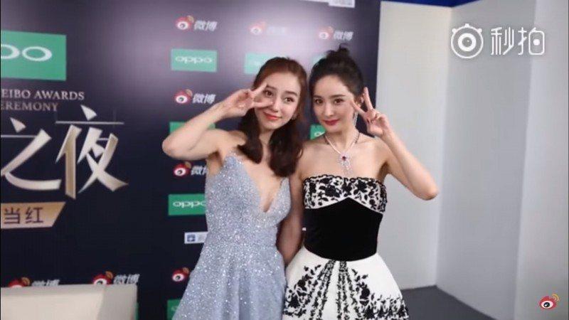 楊冪(右)、Angelababy(左)是多年好友。圖/摘自微博