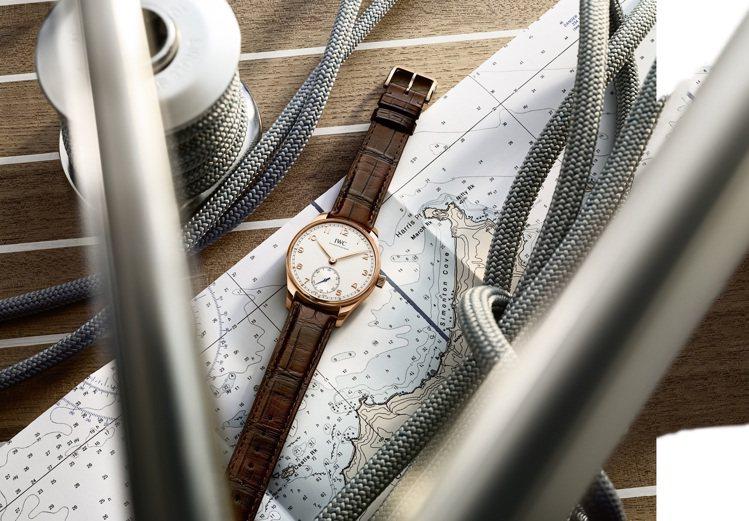 2020年IWC新款的葡萄牙系列自動腕表40毫米便使用Santoni的深咖啡色皮...
