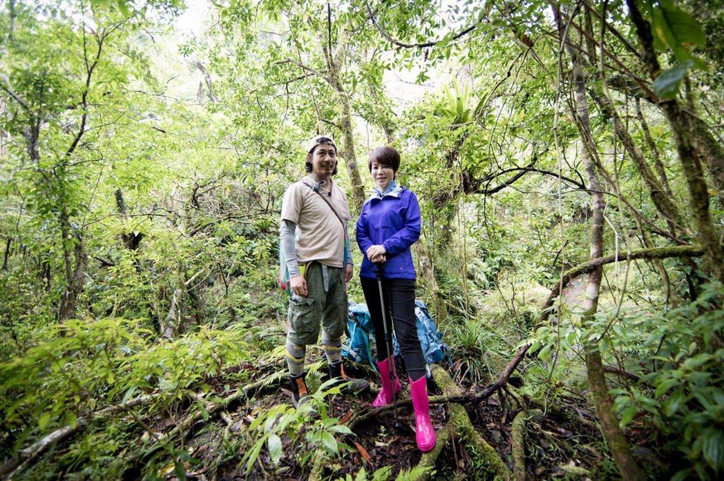 陳雅琳跟著植物獵人阿改深入山林。圖/壹電視提供