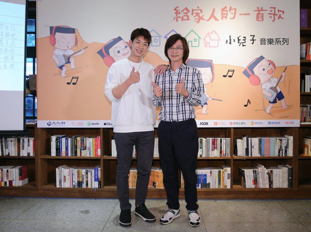 林隆璇(右)林亭翰父子檔一起出席。圖/夢田文創提供