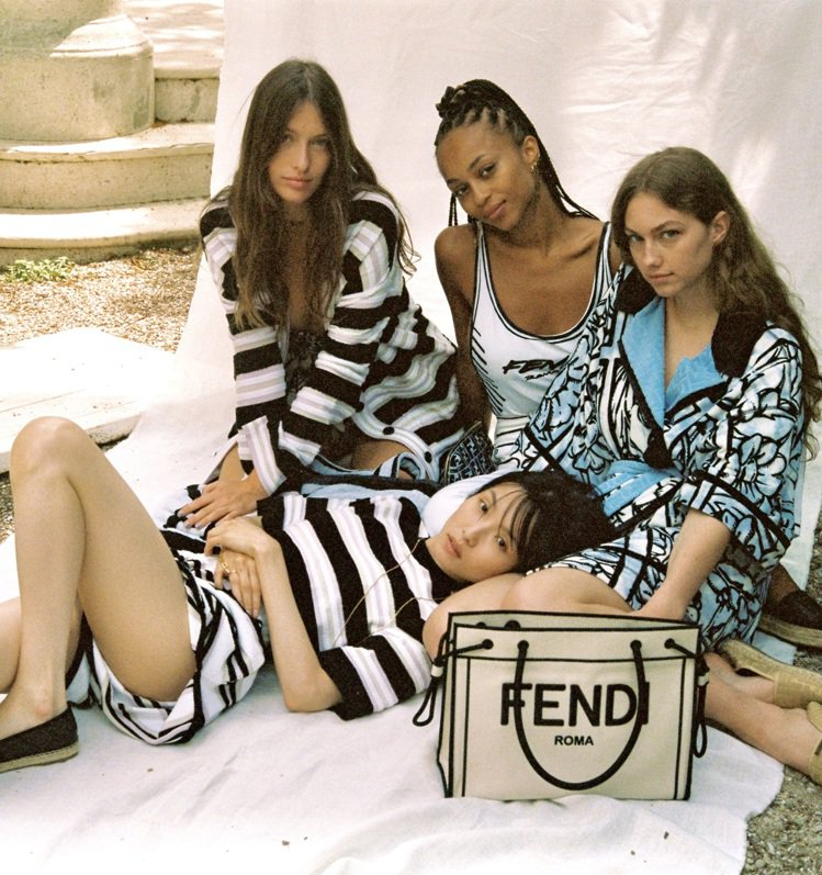FENDI推出2020早秋系列的Roma Shopper購物袋。圖/FENDI提...