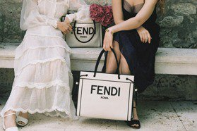 FENDI早秋織布購物袋好美 簡約黑白色 出門好心情