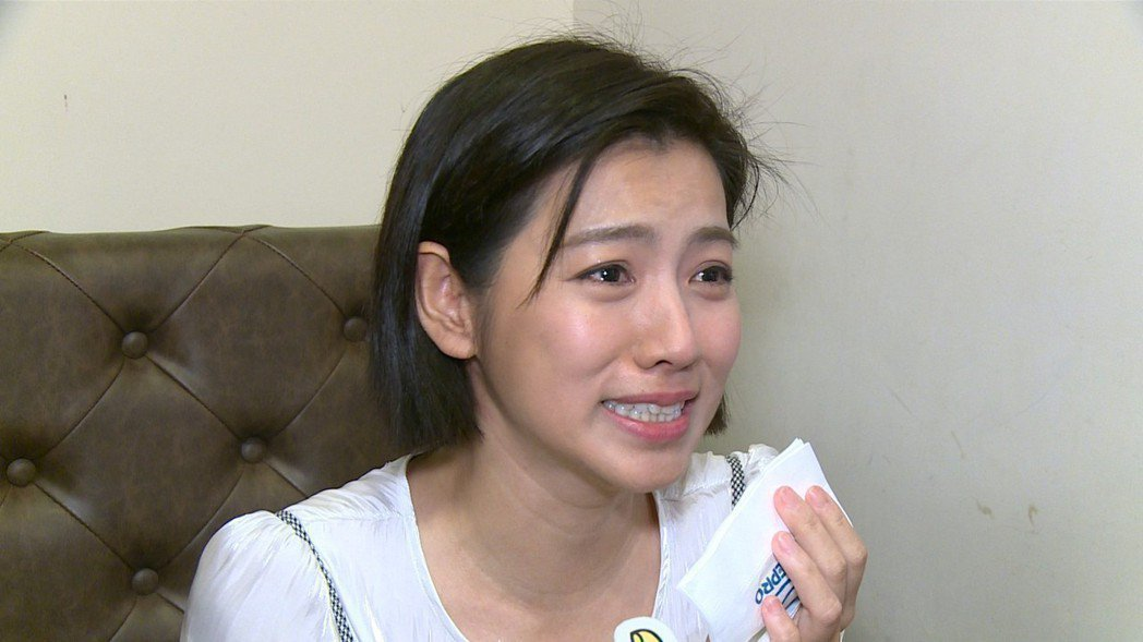 米可白之前為主演的「生生世世」宣傳,受訪時為角色落淚。圖/記者陳沛林/攝影