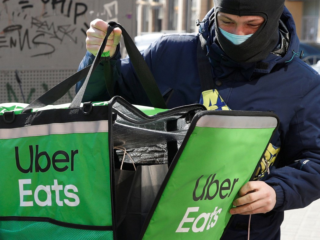 UBER-RESULTS/:FILE PHOTO: An Uber Eats f...