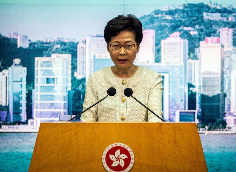 香港行政長官林鄭月娥。 法新社