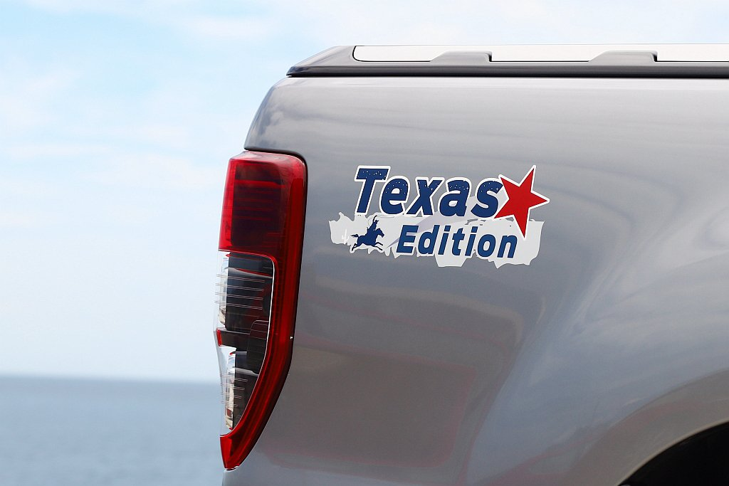 Ford Ranger Texas Edition德州騎兵版於右後車斗,多了專屬...