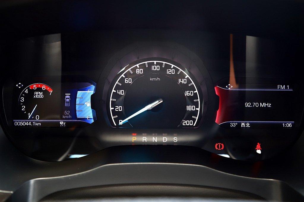 4.2吋彩色雙液晶螢幕儀表,於右側可顯示娛樂、導航等資訊,左側螢幕則有車輛狀態、...