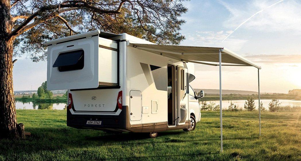 Hyundai Porest露營車。 摘自Hyundai