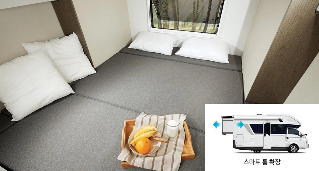 Hyundai Porest配有長度可增加800mm的Smart Room智能房...