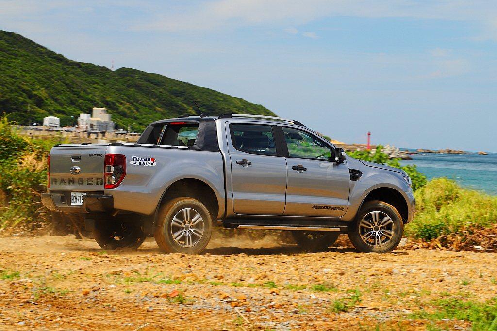 在台灣中型皮卡級距中,Ford Ranger的車艙隔音表現絕對是名列前茅。 記者...