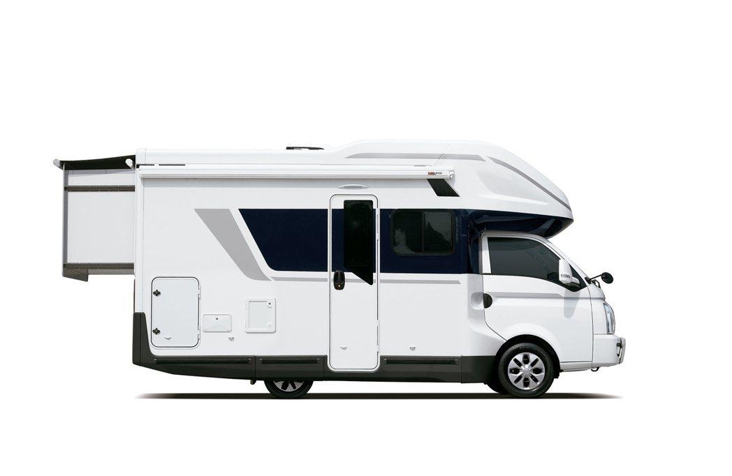 韓國近五年的露營車市場需求大增。圖為全新Hyundai Porest露營車。 摘...