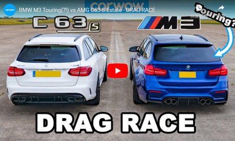 影/自改BMW M3 Touring Vs. Mercedes-AMG C63 S Wagon!