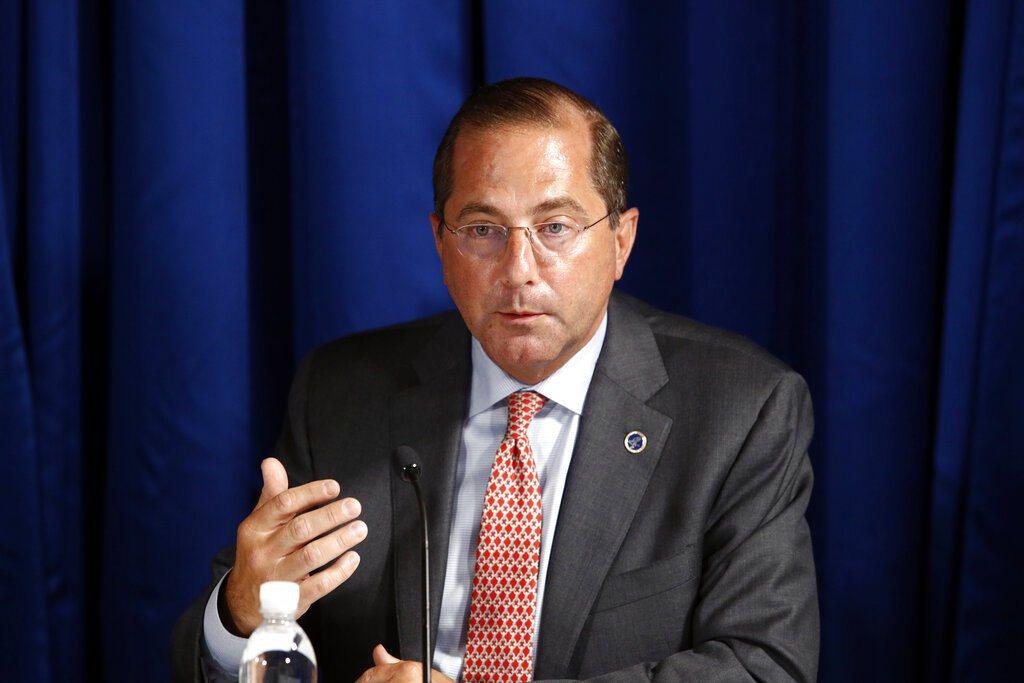 美國衛生及公共服務部部長艾薩。 圖/美聯社
