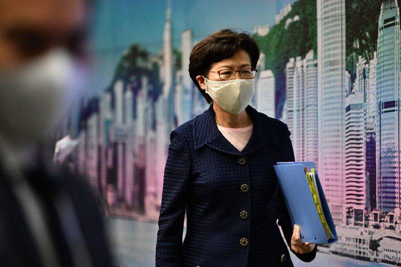 香港特首林鄭月娥。 法新社