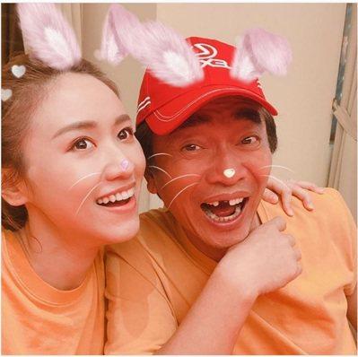 吳宗憲(右)與女兒sandy合影。圖╱吳宗憲提供