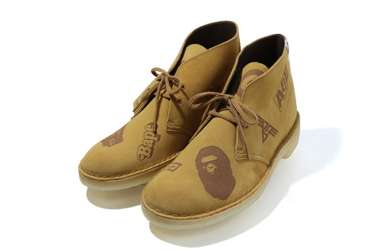 CLARKS ORIGINALS與Bape聯名沙漠靴6,280元。圖/i.t提供