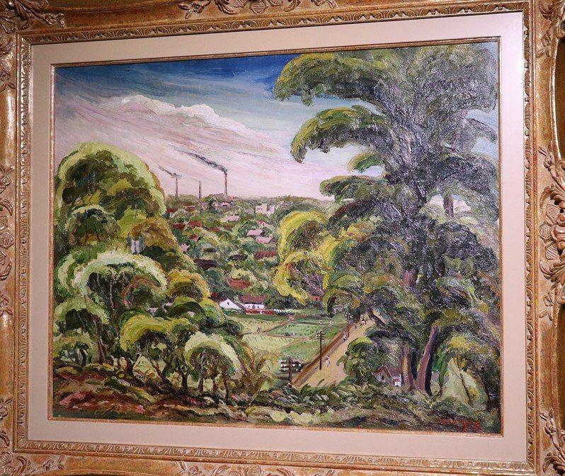 陳澄波油畫作品「展望諸羅城」。圖/嘉義市政府提供