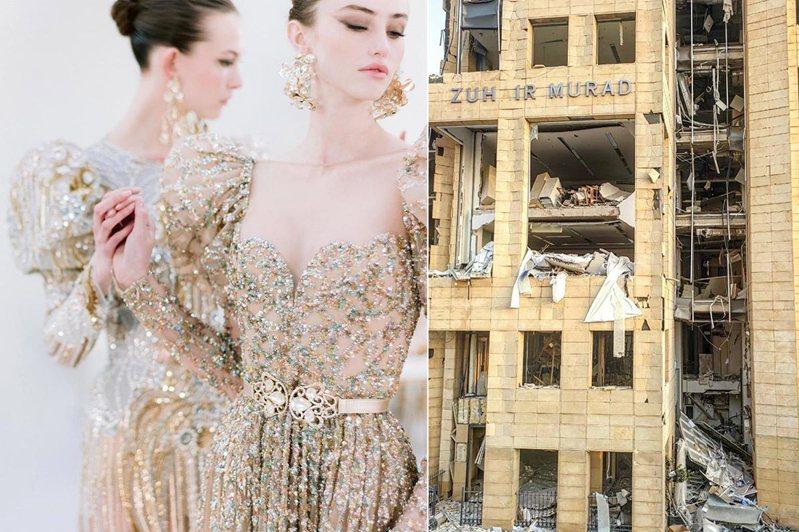 黎巴嫩首都貝魯特日前發生大爆炸,也間接的影響了巴黎高級訂製服產業。圖/摘自instagram