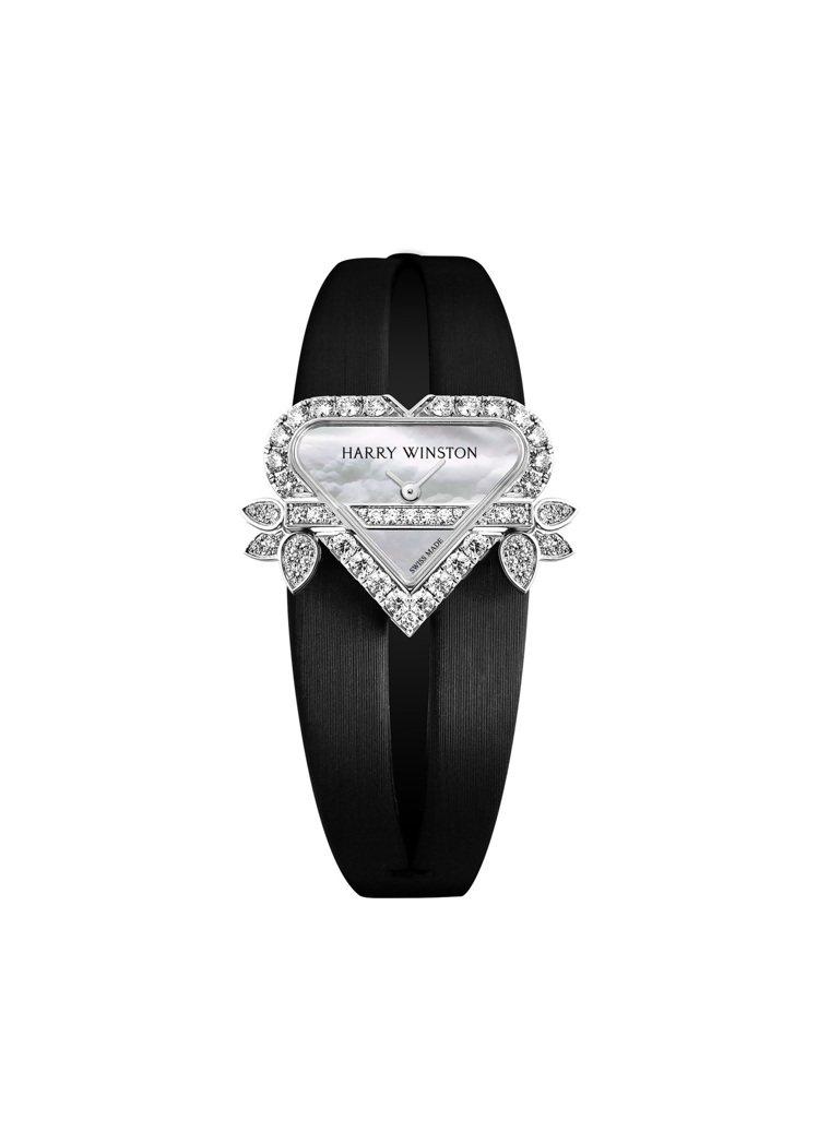 Harry Winston,Rosebud Heart頂級珠寶時計,表殼特殊的心...