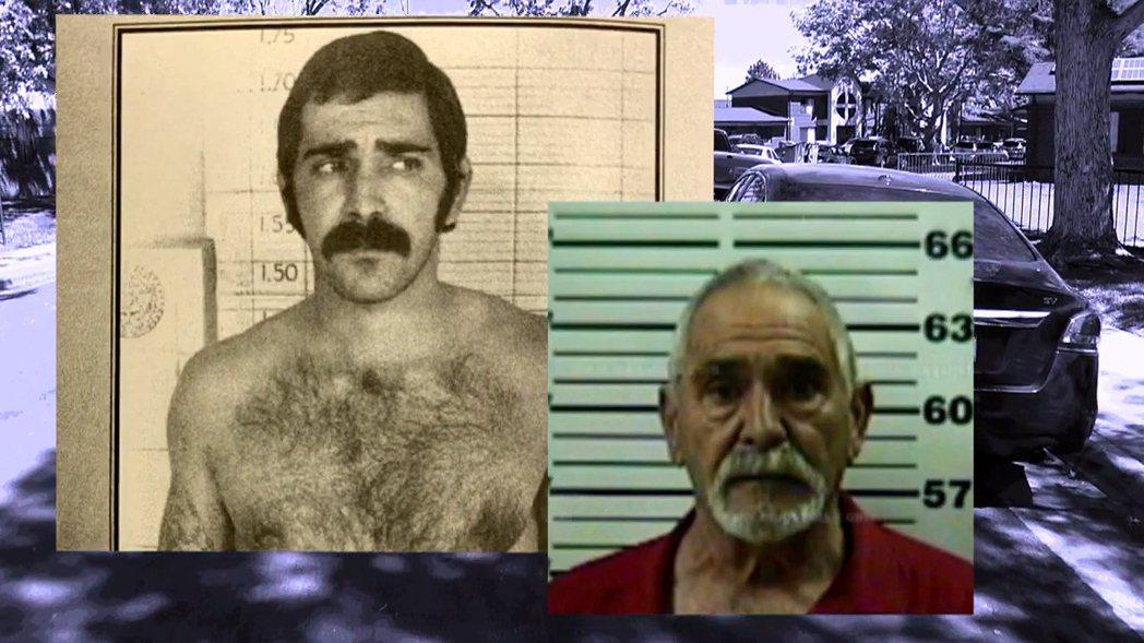 1971年10月槍擊巡邏員警的阿丘列塔今昔對比照。阿丘列塔於1974年逃獄後一直...