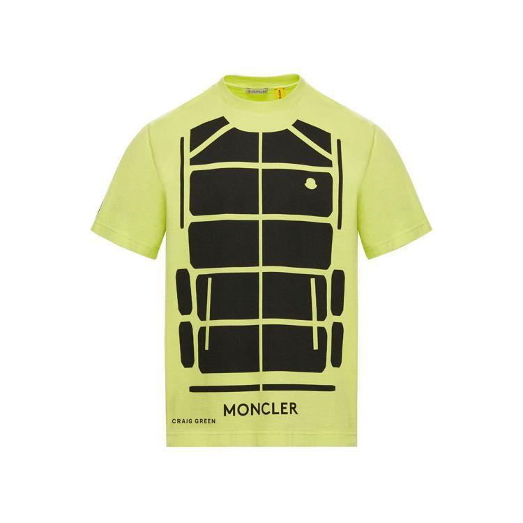 亮黃色短袖T恤,12,400元。圖/MONCLER提供