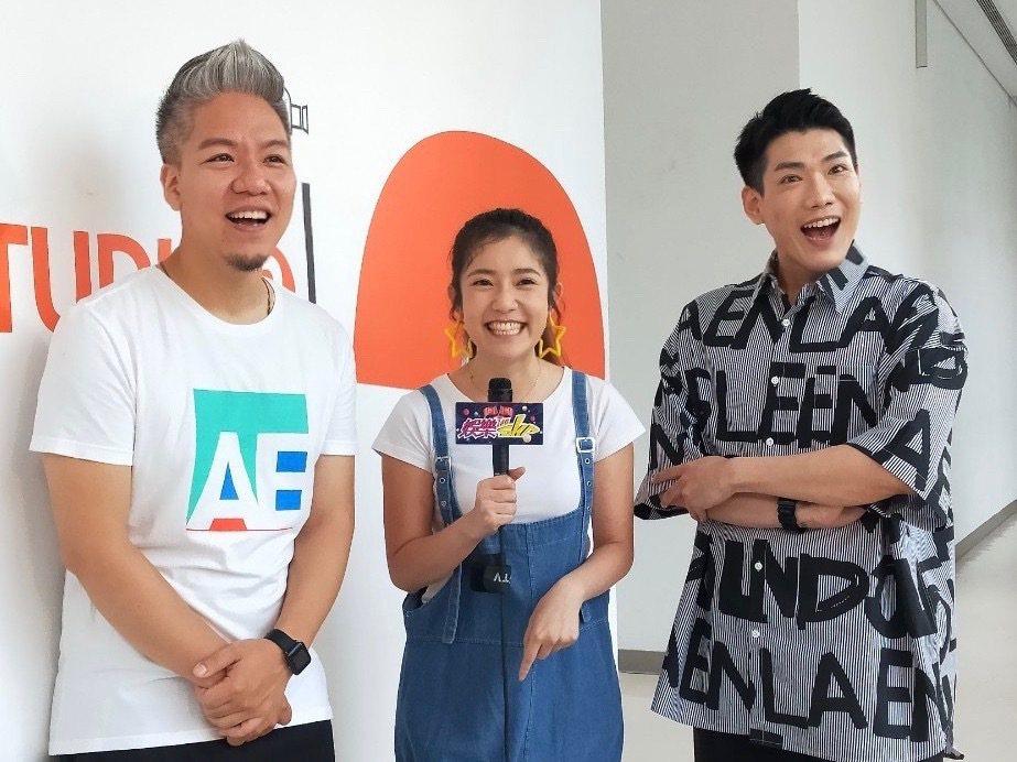 郭亞棠接受「娛樂超skr」訪問,祝天下父親節快樂。圖/民視提供