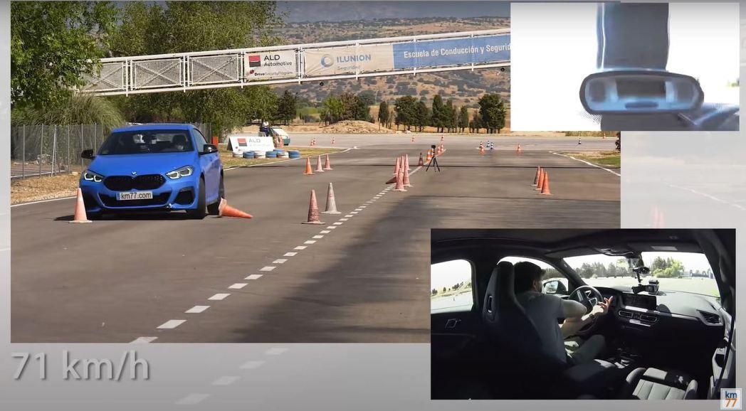 M235i Gran Coupe在71/km/h下還是無法通過測試。 摘自km7...