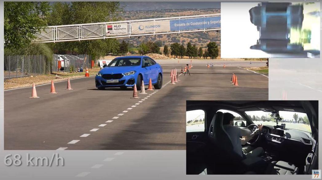 M235i Gran Coupe最終只能將時速降至68km/h才能通過測試。 摘...
