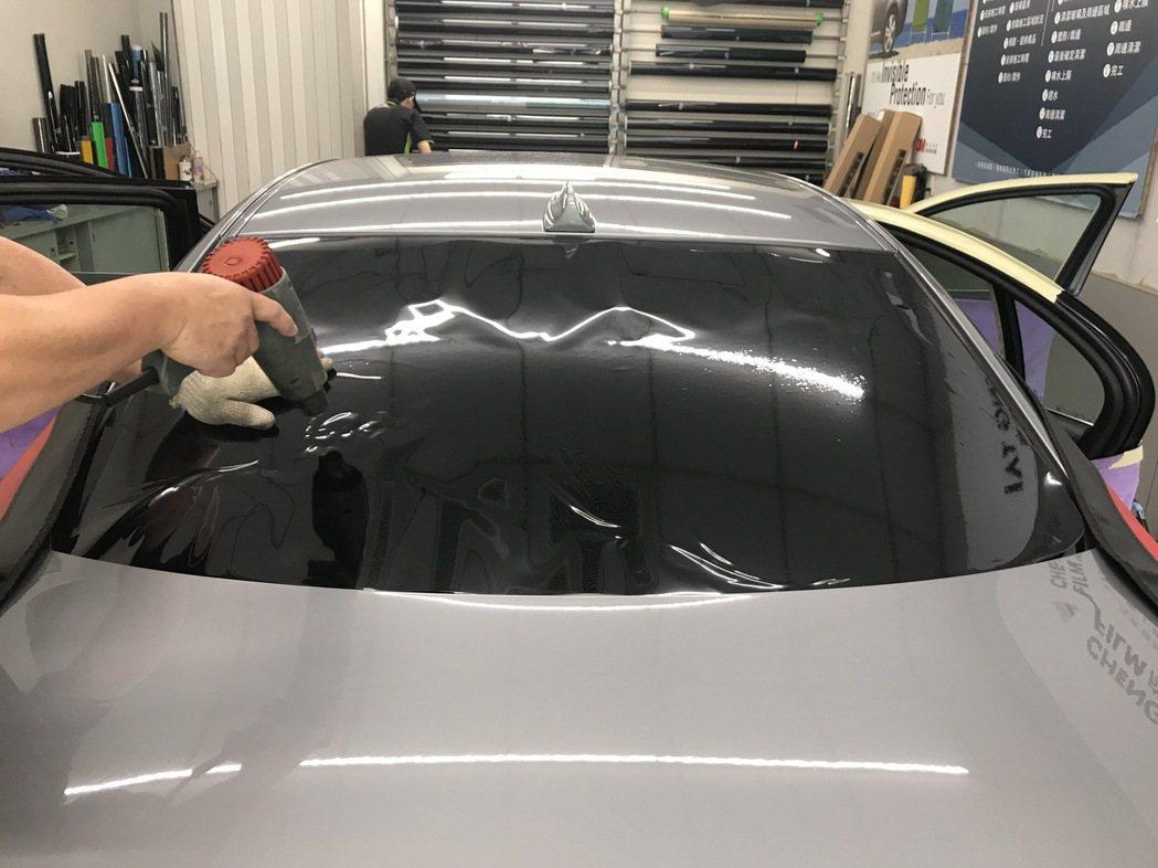 後檔GT05定型塑膜中。 圖/Dauglas Yang提供