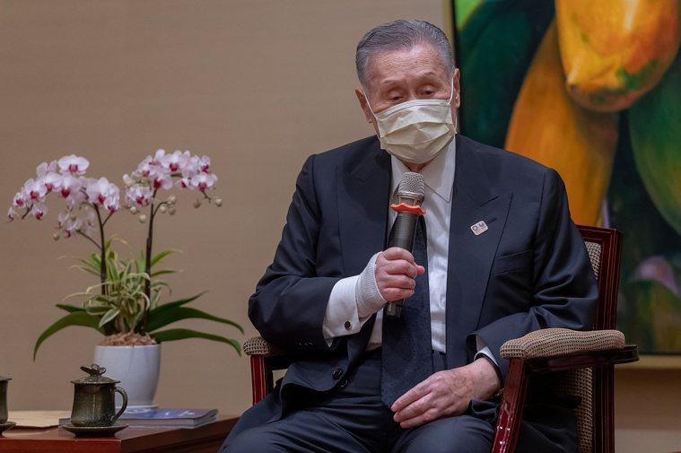 日本前首相森喜朗來台弔唁李前總統。圖/總統府提供