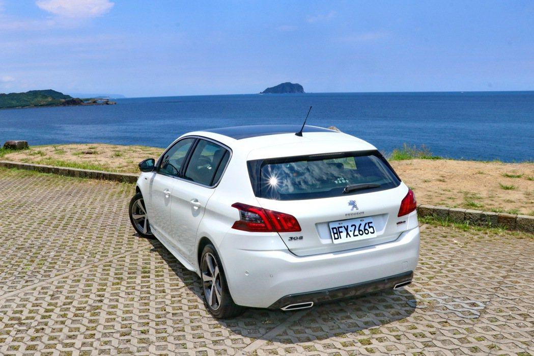 曾經拿下2014歐洲年度風雲車殊榮的Peugeot 308。 記者陳威任/攝影