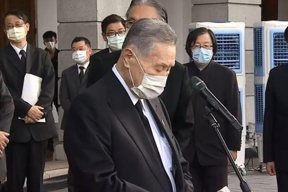 日本前首相森喜朗率國會團抵台北賓館 弔唁前總統李登輝