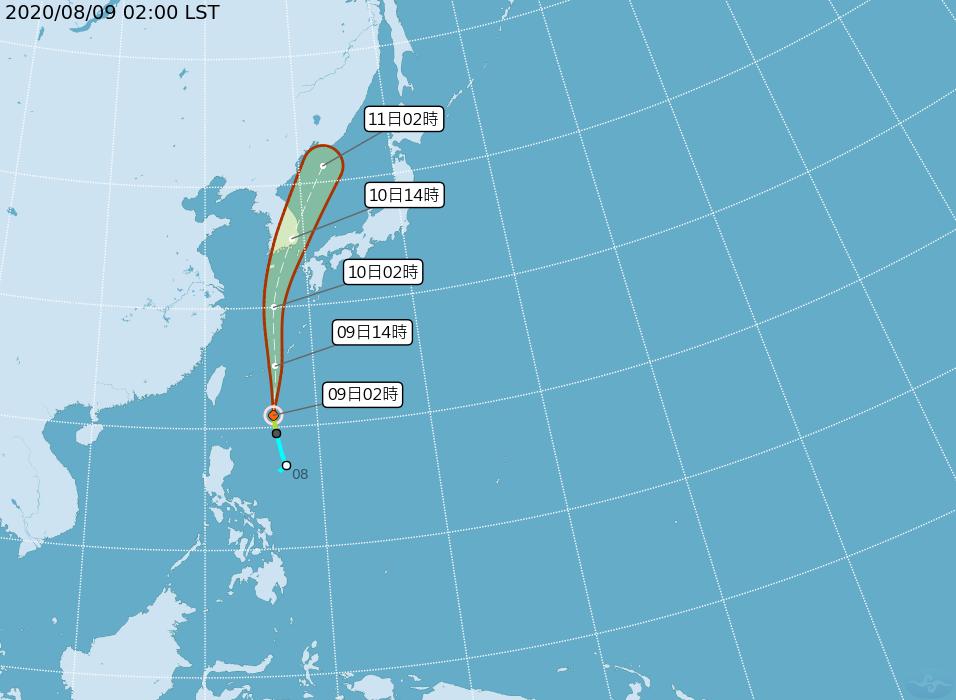 輕度颱風薔蜜距離鵝鑾鼻東方約570公里,預測向北往琉球方向移動,直接影響台灣的機...