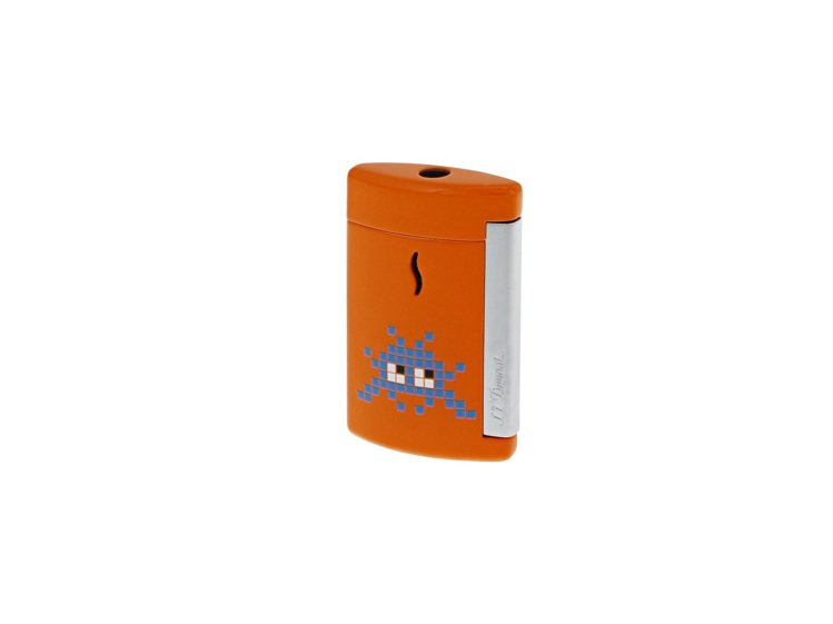 S.T. Dupont MiniJet系列打火機亮橘色款,5,200元。圖/迪生...
