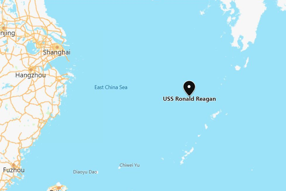 美衛生部長訪台敏感時機 美「雷根號」航母現身東海