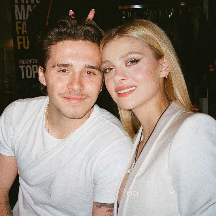 布魯克林貝克漢(左)先前已向「變形金剛4」女主角妮可拉佩茲(右)求婚成功。圖/摘...