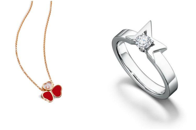 珠寶品牌以深具意義的愛情元素珠寶迎接七夕。圖/蕭邦、TASAKI提供