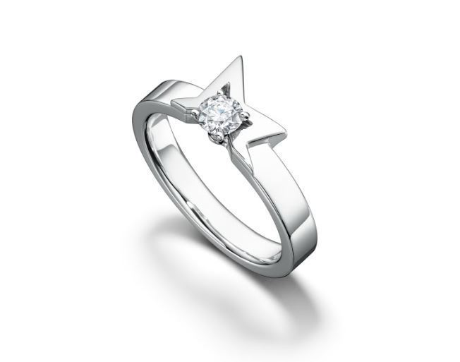 TASAKI abstract star 戒指,14萬4,000元。圖/TASA...