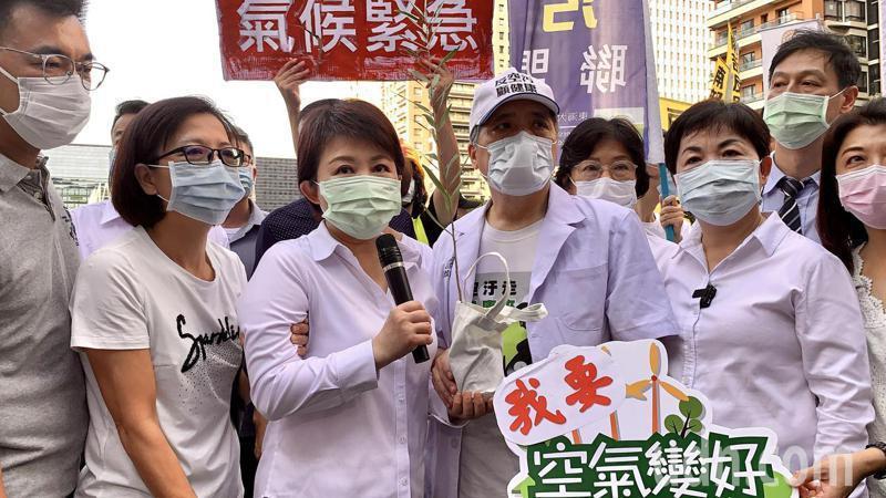 台中市長盧秀燕昨參加中部反空汙大遊行,要求關掉中火2、3號機組,並訴求台中市生煤...