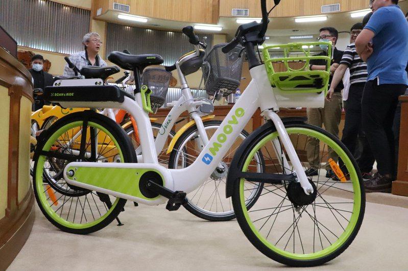 新北推電子圍籬無樁式共享單車MOOVO,最快月底試營運。記者吳亮賢/攝影
