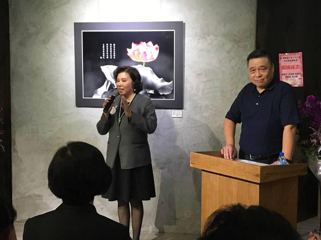國際獅子會300A2區第五專區主席溫小慧致詞表達感謝。項家麟/攝影