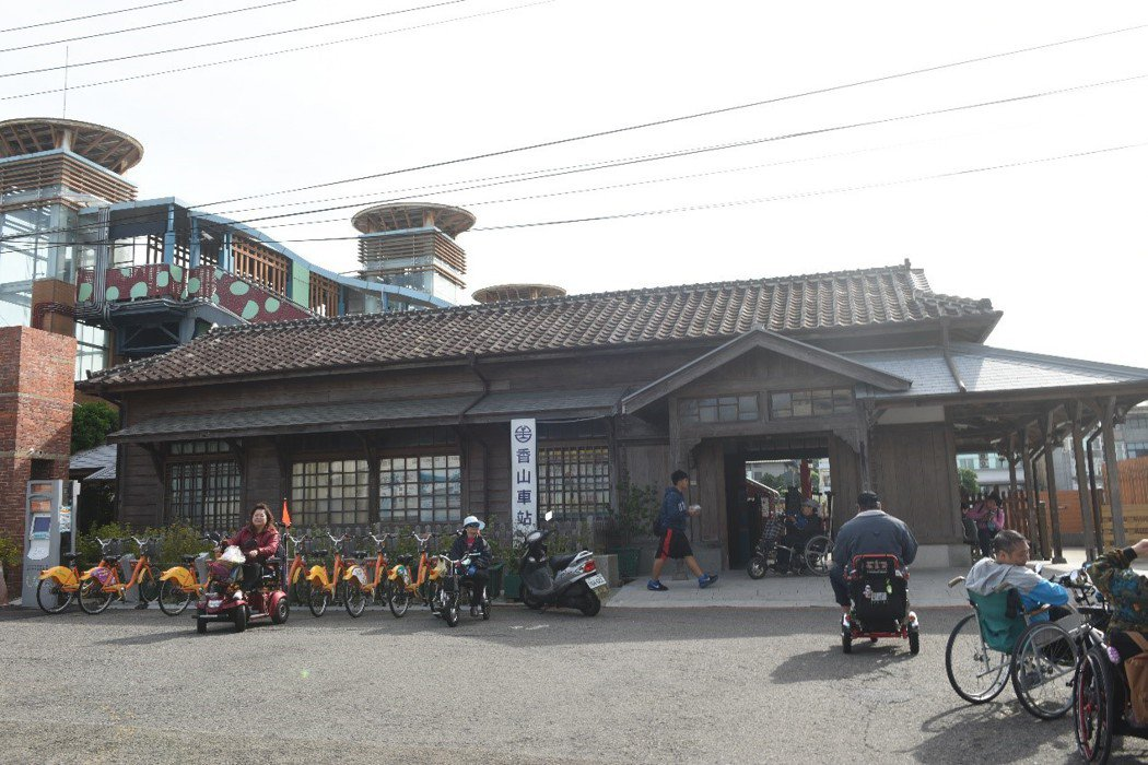 新竹古蹟香山車站。 圖/作者自攝