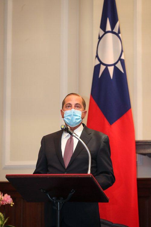 美國衛生部長阿查爾(Alex Azar)率團訪台。 中央社
