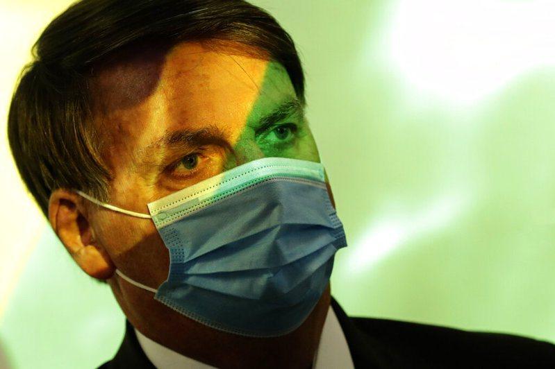 巴西總統波索納洛。 美聯社