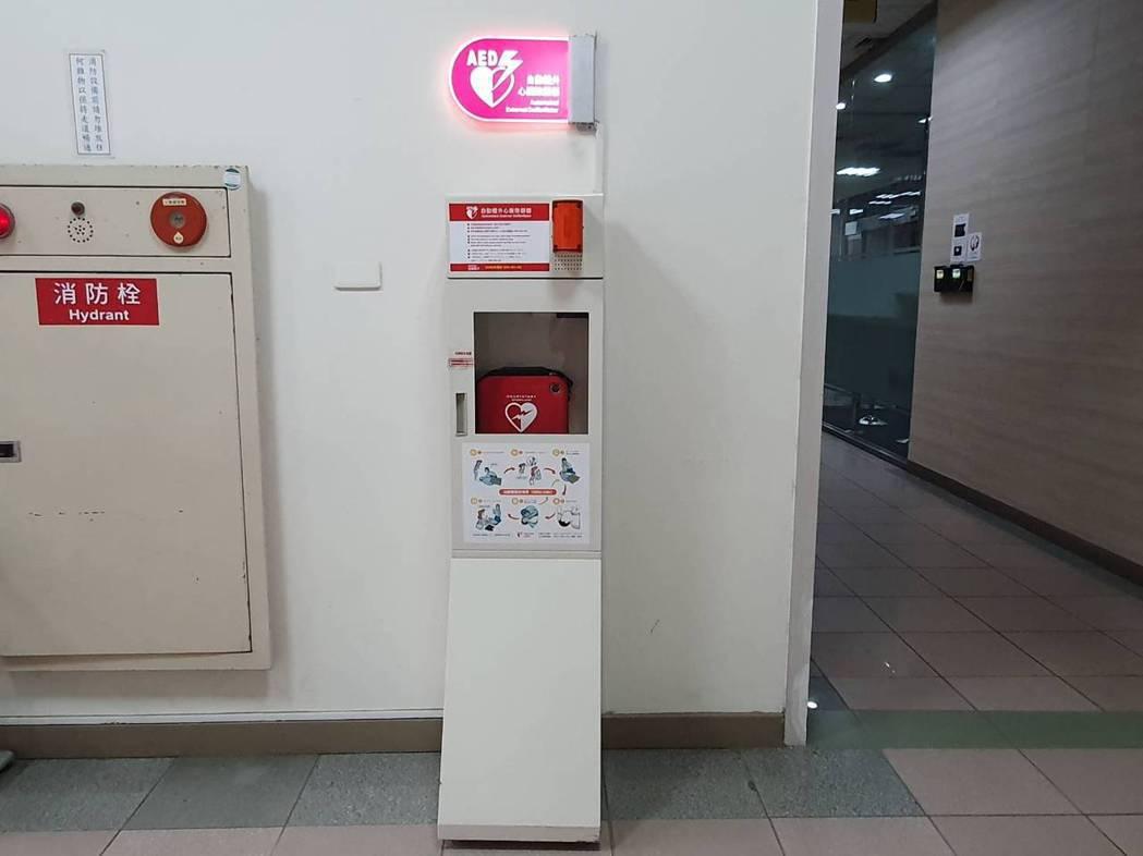 管理辦法中對於AED在場所設置的「確切地點」並無明確規範。記者楊雅棠/攝影